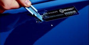 Etiquettes adhésives gravées laser haute sécurité