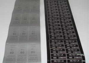 Etiquettes adhésives gravées laser inviolables numéro de série