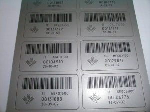 Etiquettes gravées laser