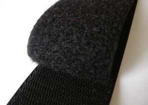 Velcro adhesif ou à coudre noir