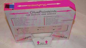 Gouttes adhésives Glue points distributeur