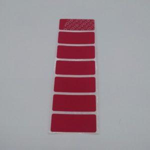 Etiquettes Adhésives NO Transfer «VOID» Rouge