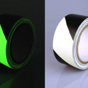 Ruban Adhésif Photoluminicent, Frange Noir