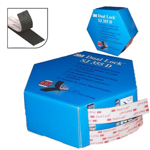 3M™ Dual Lock système d'Union Amovible SJ355D Noir