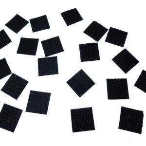 Carré Velcro Adhésif, Femelle-Loop, Noir