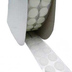 Petits Cercles Velcro Adhésif, Femelle-Loop, Blanc