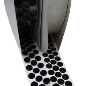 Petits Cercles Velcro Adhésif, Femelle-Loop, Noir