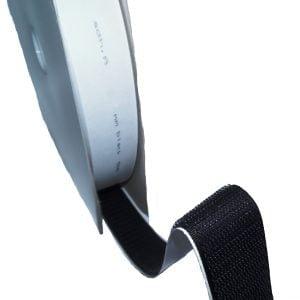 Ruban Velcro Adhésif Mâle-Hook, Noir